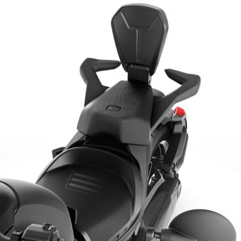 Foldable Passenger Backrest - Black
