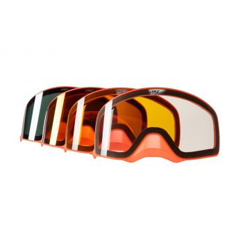 LYNX RADIEN GOGGLES 2.0 SPARE LENSES, ORANGE FRAME WITH NOSEGUARD