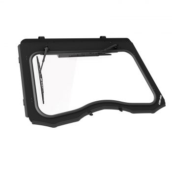 Glass Windshield with Wiper & Washer Kit