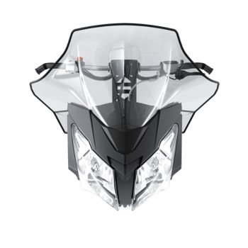 Sport performance flared windshield-high