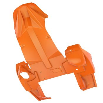 Heavy-duty skidplate, Race Orange
